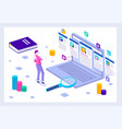 isometric hiring and recruitment vector image vector image