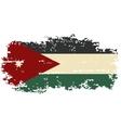 Jordan grunge flag vector image vector image