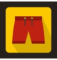 Mens shorts icon flat style vector image vector image