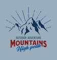 mountain and outdoor adventures image vector image vector image