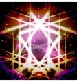 Mystic card with shiny ornament vector image vector image