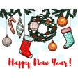 New Year winter holidays greeting card vector image vector image