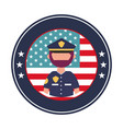 officer police with usa emblem vector image