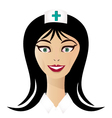 Pretty nurse face vector image vector image