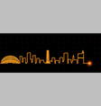 raleigh light streak skyline vector image vector image