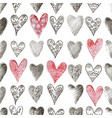 seamless background beautiful hearts vector image vector image