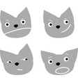 set cute cat character with various emotions vector image vector image