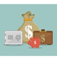 set save the money icon design vector image vector image