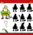 shadow activity with dwarf vector image vector image