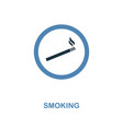 smoking icon monochrome style design from vector image vector image