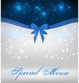 special christmas menu vector image