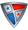 steel shield with flag panama vector image vector image