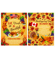 thanksgiving day canadian greeting posters vector image vector image