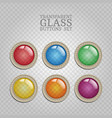 transparent glass buttons vector image