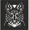 tribal wolf tatoo vector image vector image
