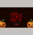 trick or treat spacial offer halloween sale flyer vector image