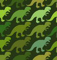 Tyrannosaurus seamless pattern Angry prehistoric vector image vector image