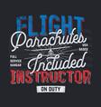 vintage hand drawn tee graphic design flight vector image vector image