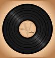 vinyl record retro background vector image