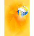 Volleyball card vector image vector image