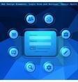 Web design elemets vector image vector image