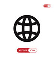 web globe icon vector image vector image