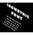White isometric font alphabet vector image vector image