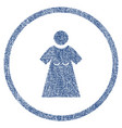 woman figure rounded fabric textured icon vector image vector image
