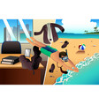 working and vacation concept vector image vector image
