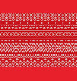 knit geometric ornament design christmas seamless vector image