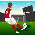 Soccer player taking penalty kick vector image