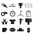 soccer football icon set vector image