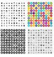 100 comfortable house icons set variant vector image vector image