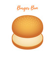 3d burger bun hamburger bread bakery vector image