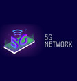5g network - new wireless global mobile system vector image vector image