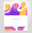 abstract bright layout - paper cut banner vector image vector image
