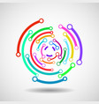 abstract circle with lines vector image vector image