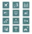 airport icons | teal series vector image vector image