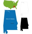 alabama map vector image vector image