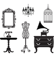 Antique collection vector image vector image