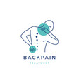back pain treatment logo icon vector image