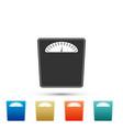 bathroom scales icon weight measure equipment vector image vector image