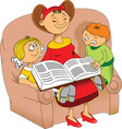 Bedtime story vector image vector image