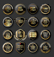 black and gold badges super sale collection 02 vector image vector image