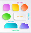 buttons with shadows vector image vector image