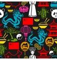 China seamless pattern Chinese symbols and vector image