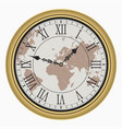clock with map vector image vector image
