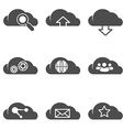 Cloud related internet icons set vector image vector image