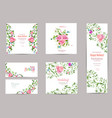 collection of greeting cards with fancy flora for vector image vector image