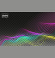 color abstract linear 3d technology data flow vector image vector image